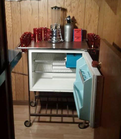 GE Refrigerator Bar Cart Retro