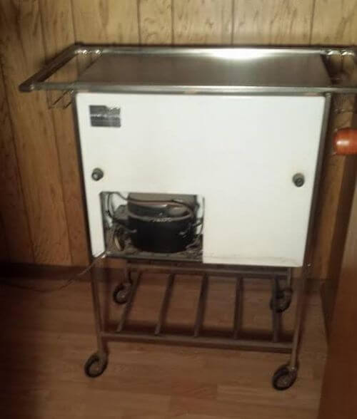 Ge Refrigerator Bar Cart Made In Italy Il Cugino Of The