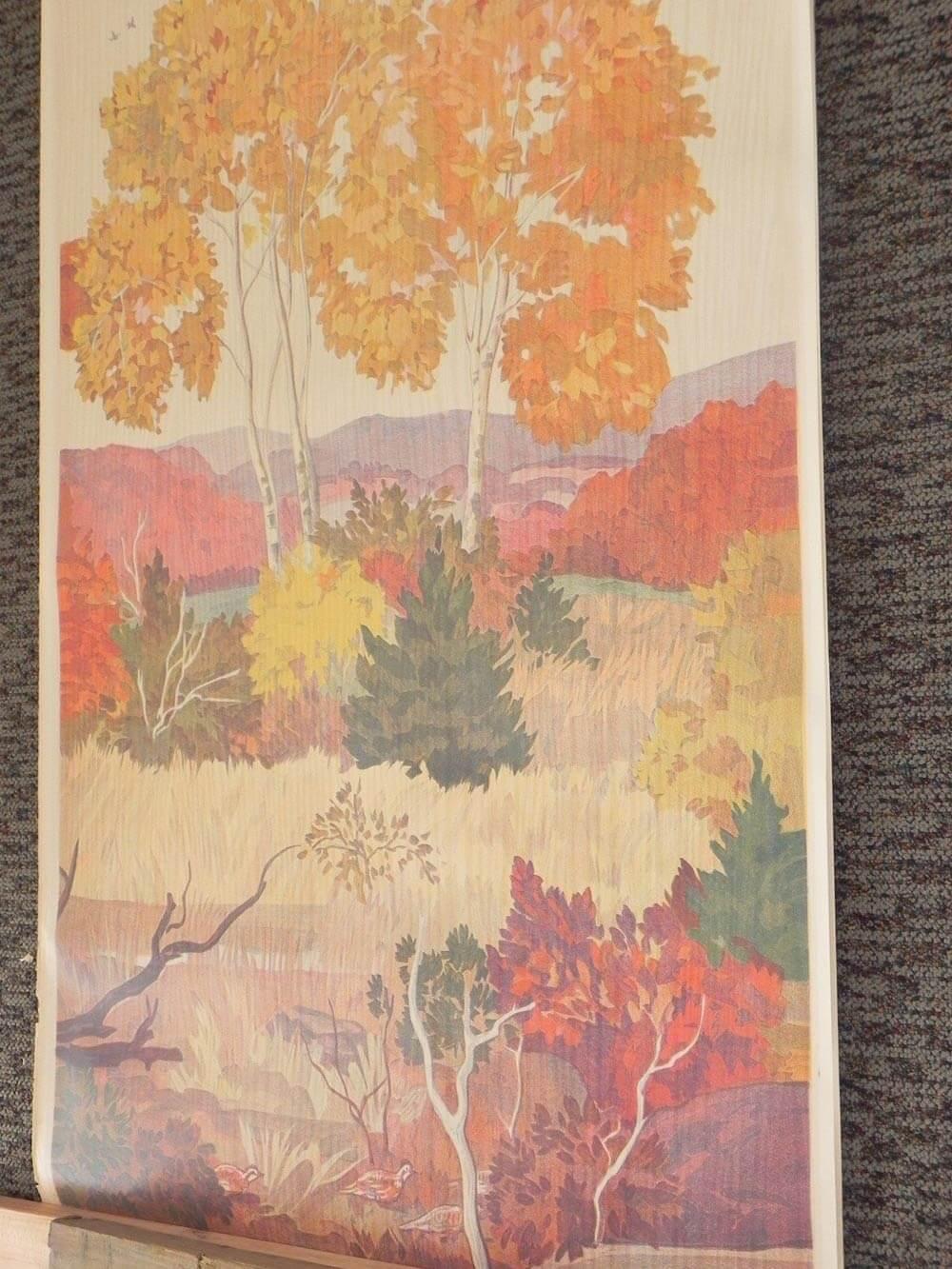Full room vintage wallpaper murals by the schmitz horning for Autumn tree mural