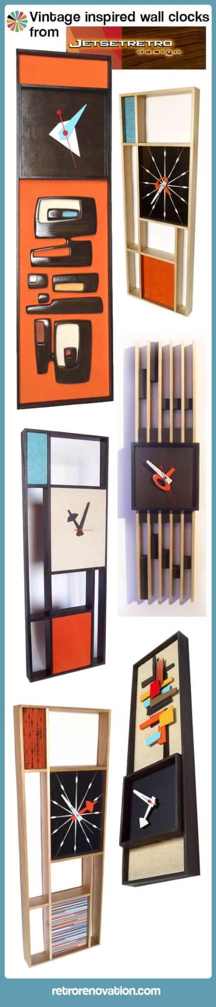 vintage sunbeam style clocks