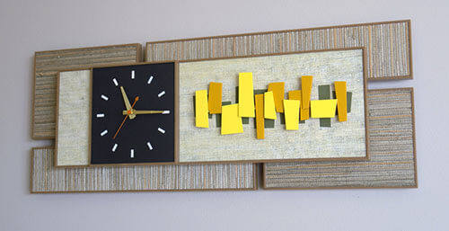 We Love Sunbeam Style Mondrian Wall Clocks From