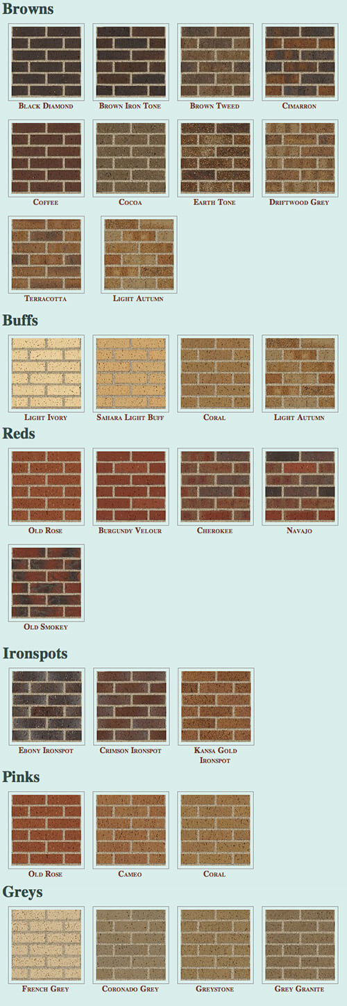 Two places to buy roman bricks in a wide variety of colors for Brick types and styles