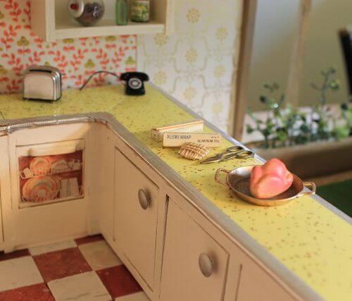 midcentury vintage dollhouse