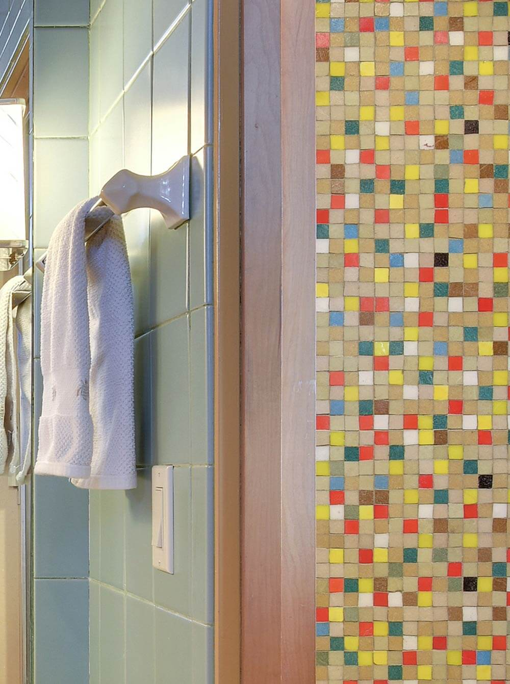 Design A Confetti Tile Bathroom Wall Using Clayhaus
