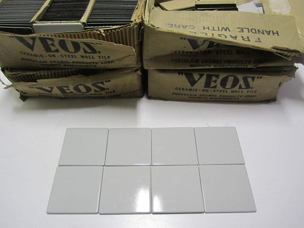 Vintage Veos Steel Tiles With Porcelain Ceramic Finish Retro