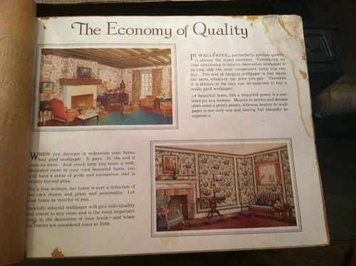 vintage wallpaper sample book