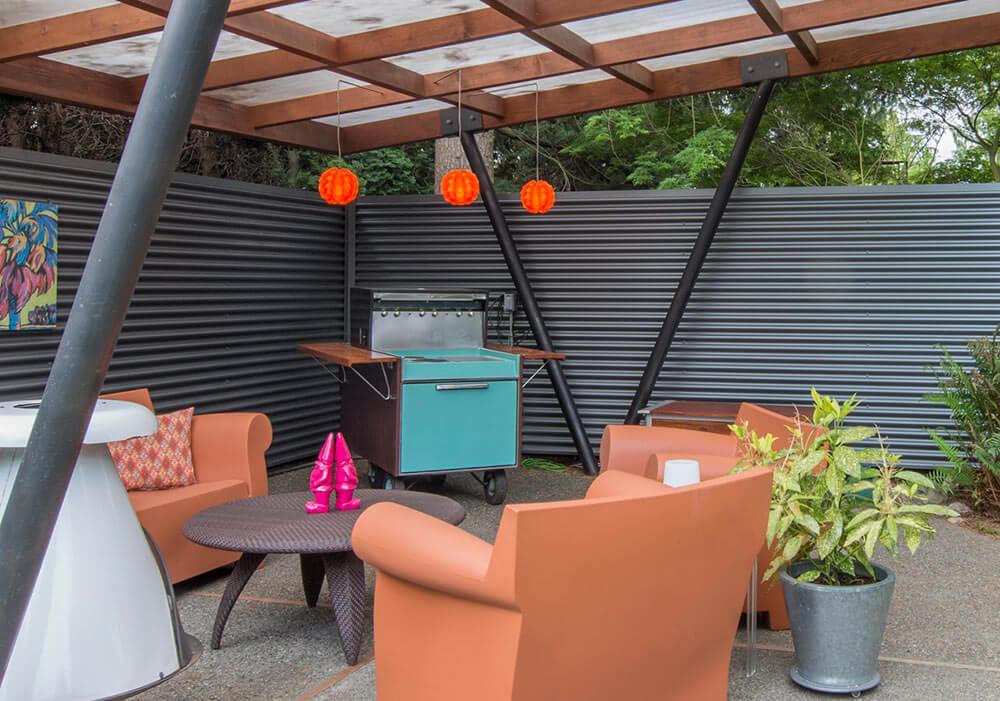 ge partio cart in mid century modern patio