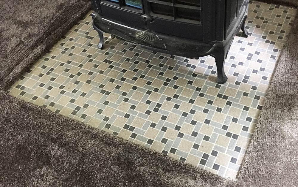 midcentury mosaic floor tile