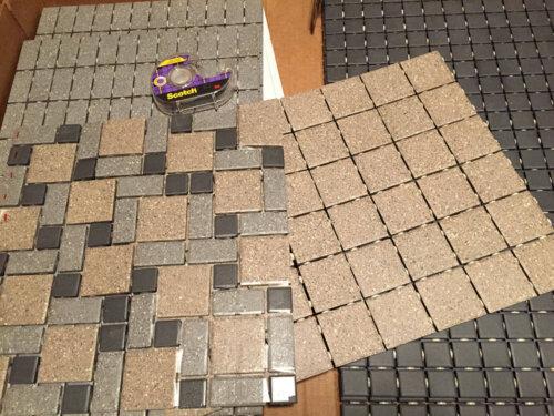 midcentury tile pattern