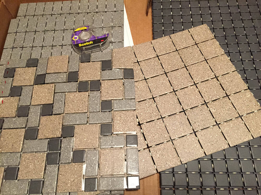 Nicoles DIY Daltile Mosaic Tile Floor Retro Renovation - Daltile portland maine