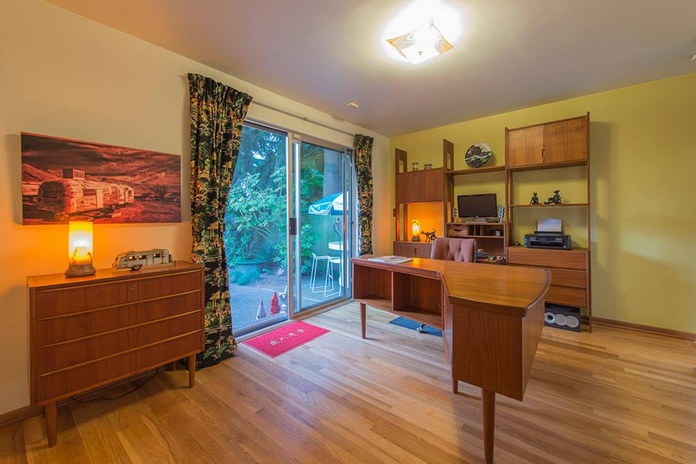 danish teak office furniture and wall unit