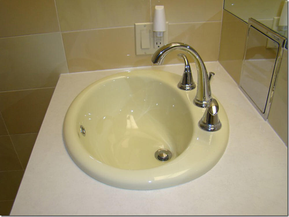 Bathroom Sink Yellow paul paints 3 fiberglass bathroom sinks different colors at an