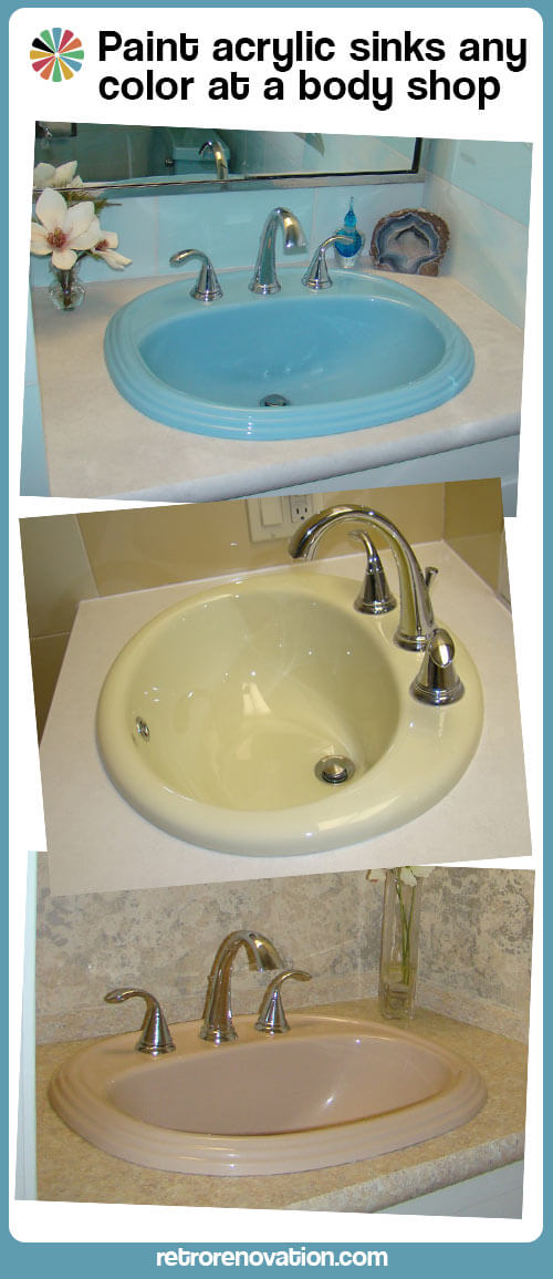 painted pastel fiberglass sinks