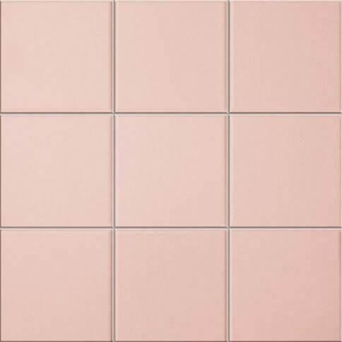midcentury pink tile