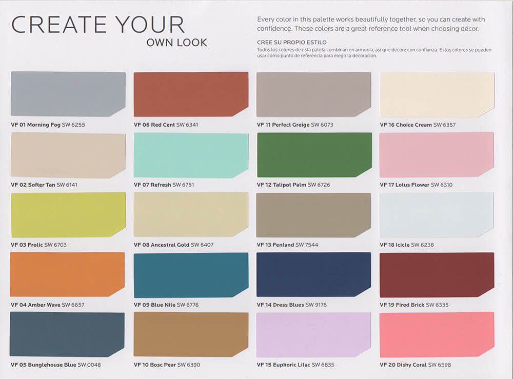 New vintage paint color collection from sherwin williams for Paint color palette