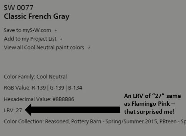 Sherwin Williams French Gray The Instapaper
