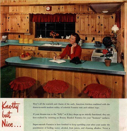 Kara was inspired by this vintage knotty pine kitchen found on our sister website Knotty is Nice.