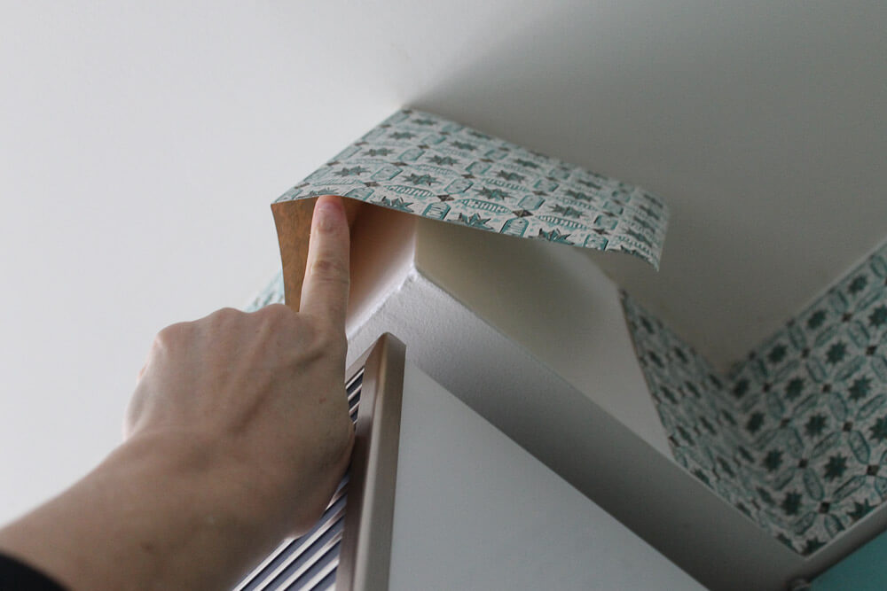 fixing peeling wallpaper