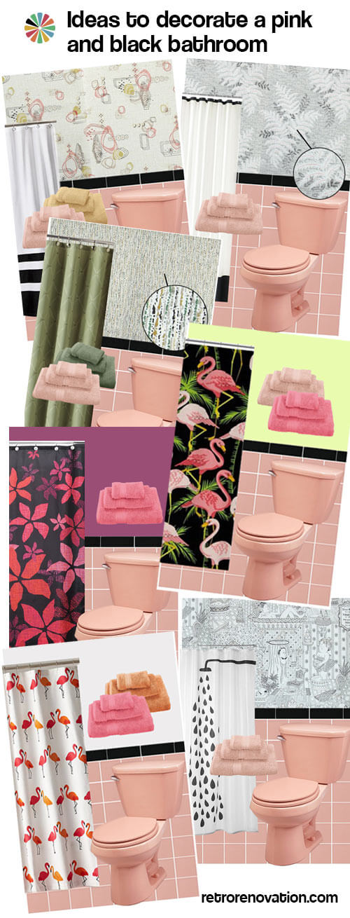 pink and black bathroom design ideas