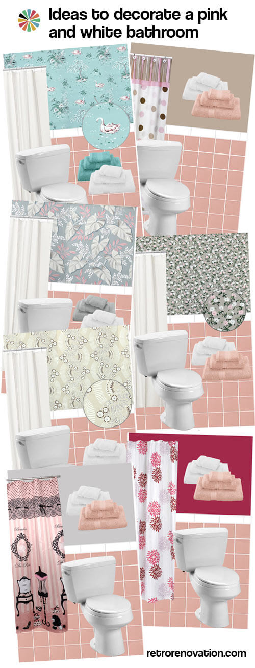 pink and white bathroom ideas