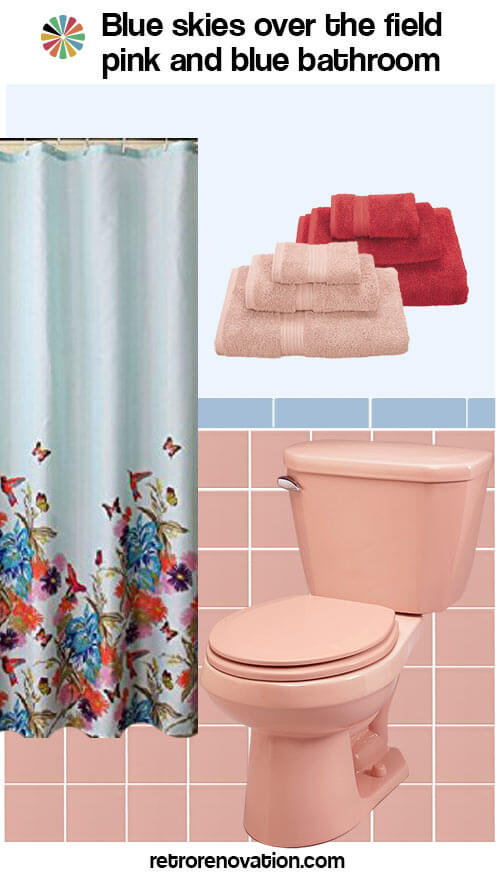 pink bathroom color schemes 13 ideas to decorate a pink and blue tile bathroom retro 19987