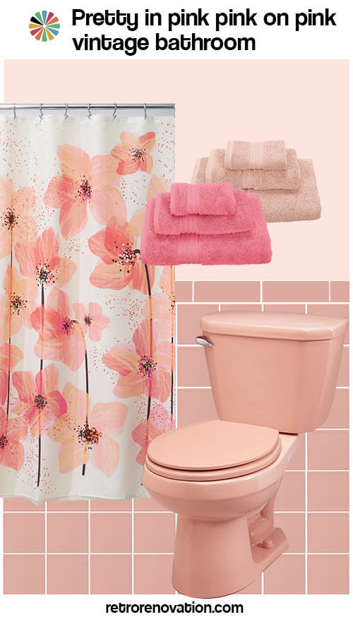 Trend vintage pink bathroom