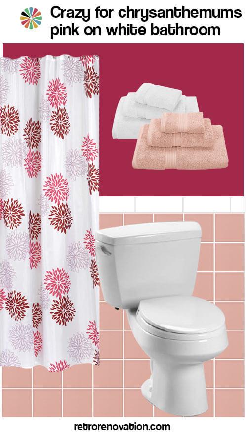 Pink And White Vintage Bathroom