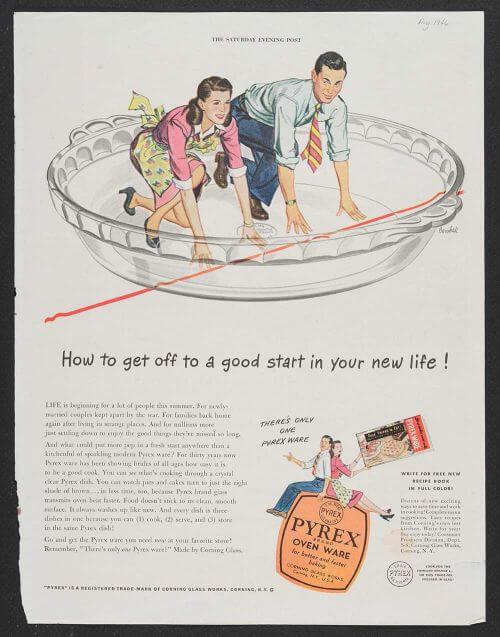 vintage pyrex advertisement