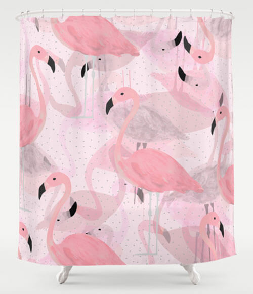 pink grey shower curtain. flamingo shower curtain My 10 favorite curtains  24 more Retro Renovation