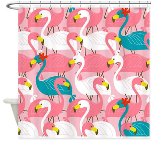 My 10 Favorite Flamingo Shower Curtains 24 More