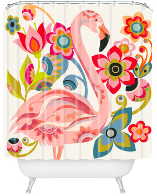 my 10 favorite flamingo shower curtains + 24 more! - retro renovation