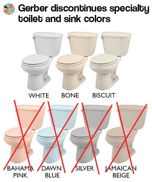 colorful toilets