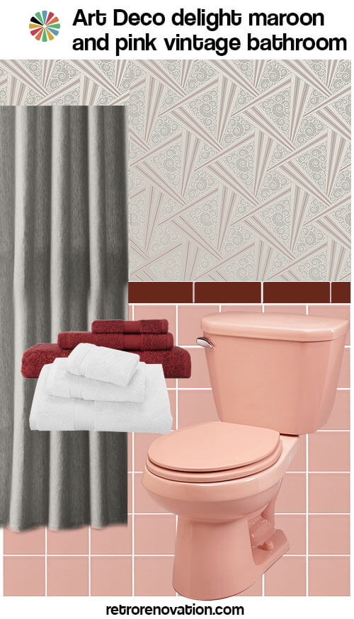 pink and maroon bathroom design ideas