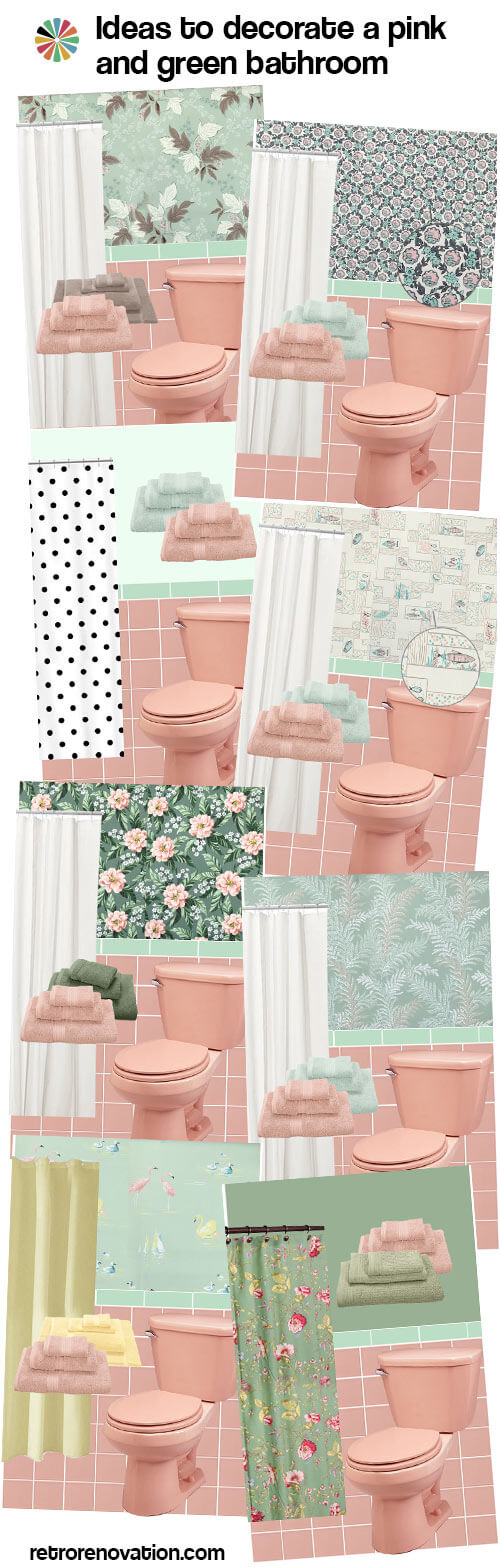 pink bathroom color schemes 11 ideas to decorate a pink and green tile bathroom 19987