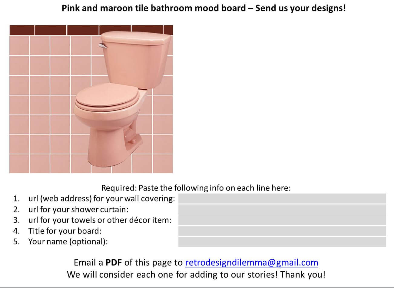13 ideas to decorate a pink and blue tile bathroom - retro renovation