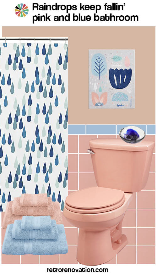 pink and blue bathroom idea