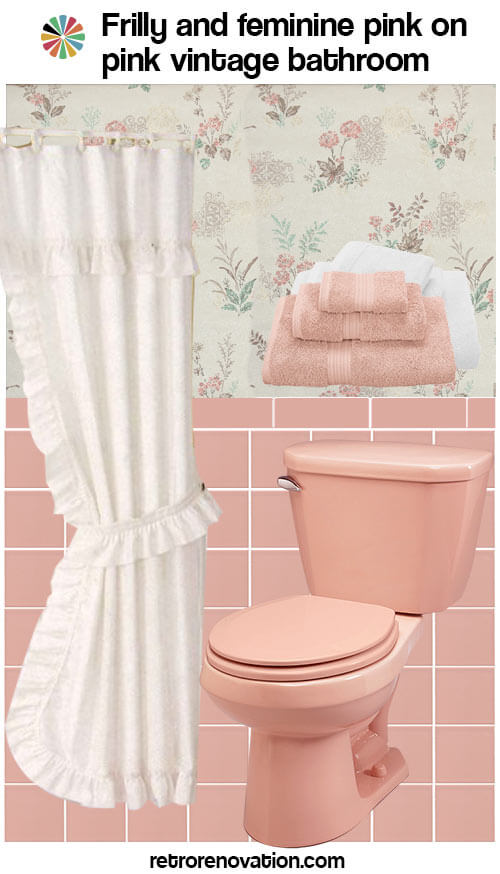 vintage pink on pink bathroom