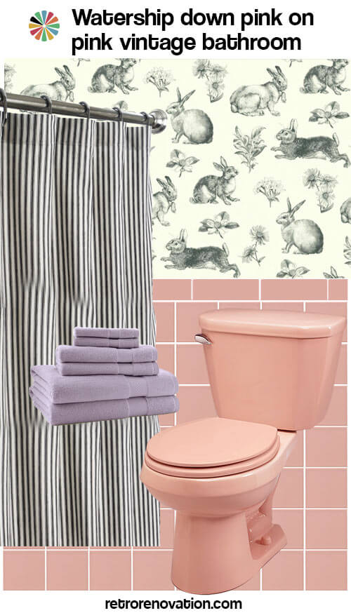 Ideas To Decorate An Allpink Tile Bathroom Retro Renovation - Pink bathroom decorating ideas
