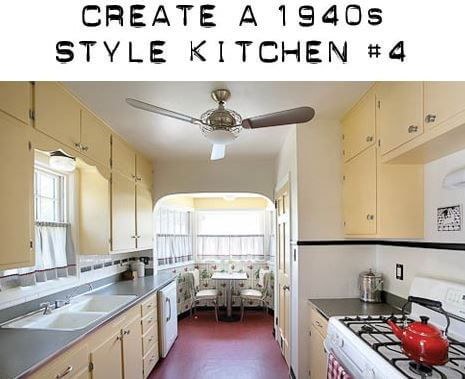 Design board to create a 1940s kitchen with yellow cabinets - Retro ...