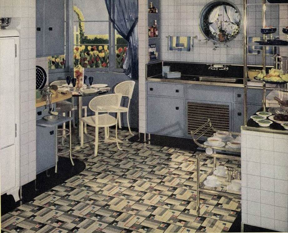 21 early 1940s interior designs by Hazel Del Brown of Armstrong ...