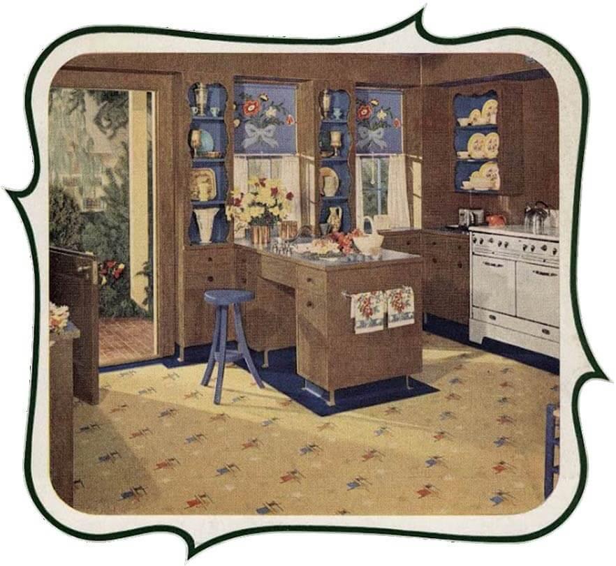 1940s kitchen