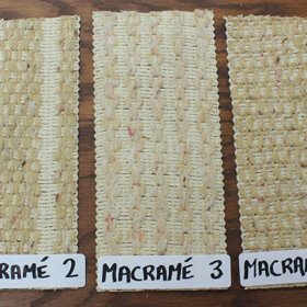 vertical blinds in macrame style