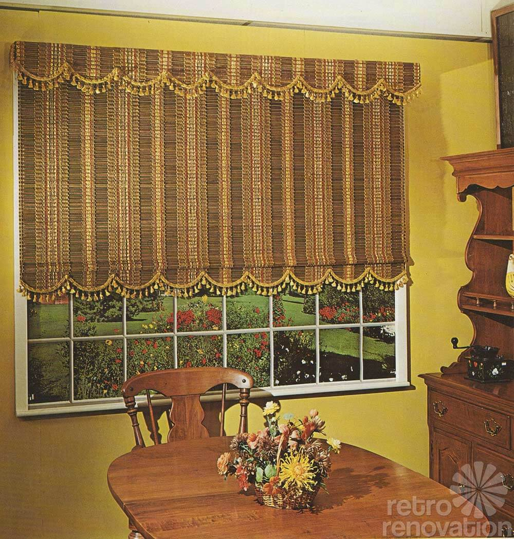 Unique woven wood blinds