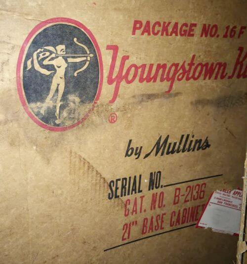 Youngstown Steel cabinet original box