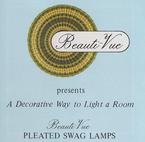 1970s swag lamp