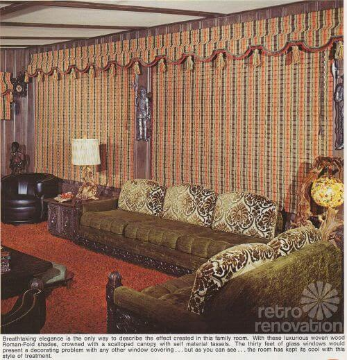 retro woven wood blinds 1970s