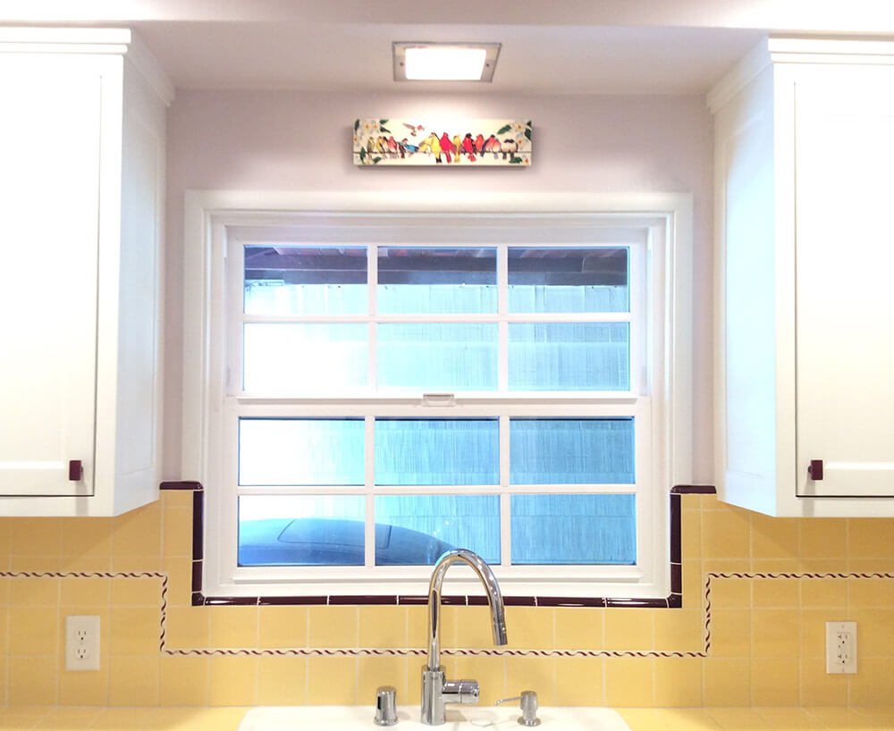 Carolyn\'s gorgeous 1940s kitchen remodel featuring yellow tile with ...