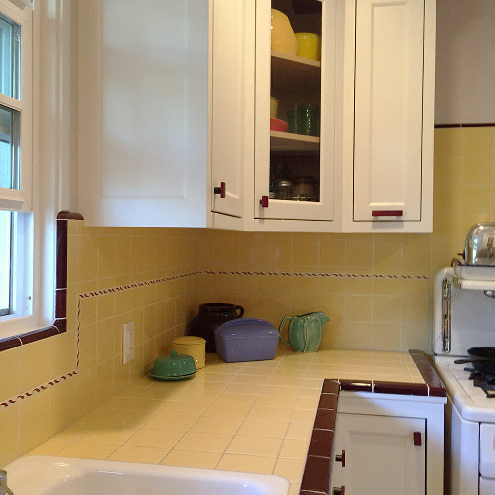 Vintage yellow tile bathroom - Vintage Yellow Kitchen