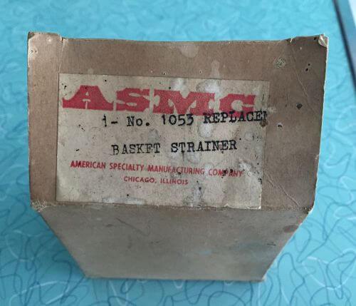 vintage basket strainer sink