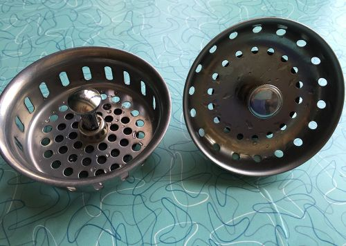 vintage basket strainer sink